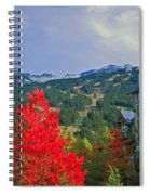 Whistler Red Spiral Notebook