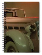 White Antique Automobile Spiral Notebook