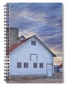 White Barn Sunrise Spiral Notebook