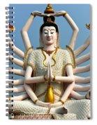 White Buddha Spiral Notebook