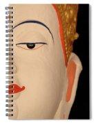 White Buddha Face Spiral Notebook