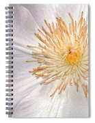 White Clematis Spiral Notebook