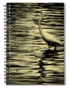 White Crane Spiral Notebook