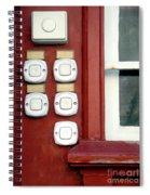 White Doorbells Spiral Notebook