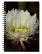 White Echinopsis  Spiral Notebook