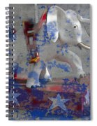 White Elephant Ride Abstract Spiral Notebook