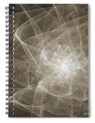 White Fractal Flower Spiral Notebook