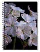 White Geranium Spiral Notebook