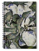 White Geraniums   -- Vangogh Spiral Notebook