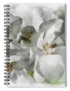 White Geraniums - Watercolor Spiral Notebook