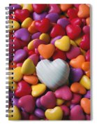 White Heart Candy Spiral Notebook