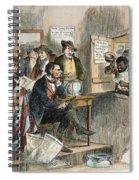 White League, 1874 Spiral Notebook