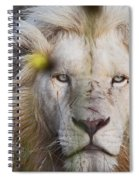 White Lion And Yellow Flowers Spiral Notebook