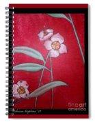 White Lotus Bottom  Spiral Notebook