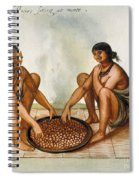 White: Native Americans Eating Spiral Notebook