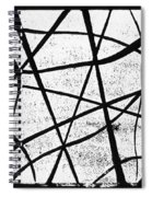 White On Black Spiral Notebook