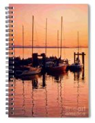 White Rock Sailboats Hdr Spiral Notebook