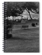 White Roe Lake Hotel - Livingston Manor Ny - Lawn To Lake Spiral Notebook