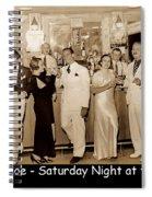 White Roe Lake Hotel-livingston Manor-saturday Night At The Bar Spiral Notebook