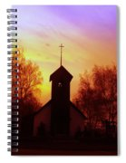 White Swan Church In The Sunset Spiral Notebook