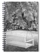 White Swing Black And White Spiral Notebook