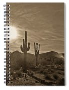 White Tanks Sunset 2 Sepia Spiral Notebook