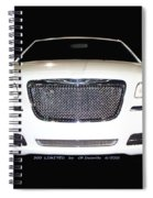 White  Three  Hundred  Limited  In  Black  Spiral Notebook