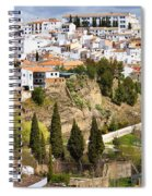 White Town Of Ronda Spiral Notebook