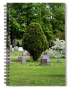 White Tree In Cemetery Spiral Notebook