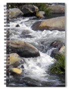 White Water Composition Spiral Notebook