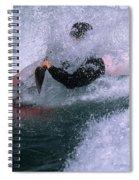 White Water Kayaker Spiral Notebook