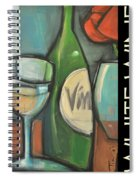 White Wine Poster Spiral Notebook