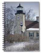 Whitehall Lighthouse In Winter Spiral Notebook