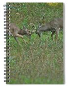 Whitetail Fighting_9668 Spiral Notebook