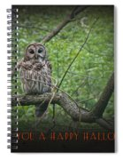Whoooo Wishes  You A Happy Halloween - Greeting Card - Owl Spiral Notebook