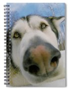 Wide Angle Dog Spiral Notebook