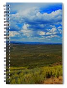 Wide Open Wyoming Sky Spiral Notebook