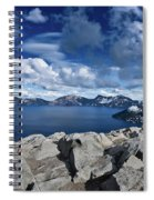 Wide View Of Crater Lake Spiral Notebook