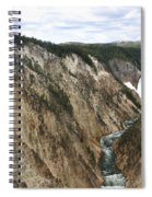 Wide View Of The Lower Falls In Yellowstone Spiral Notebook