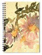 Wild Asters Aged Look Spiral Notebook