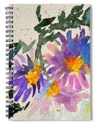 Wild Asters Spiral Notebook