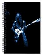 Wild Blue Guitar Spiral Notebook
