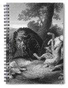 Wild Boar Hunt Spiral Notebook