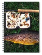 Wild Brown Trout And Fishing Rod Spiral Notebook