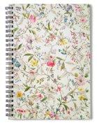 Wild Flowers Design For Silk Material Spiral Notebook