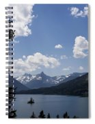 Wild Goose Island Floats In St Mary Lake Spiral Notebook