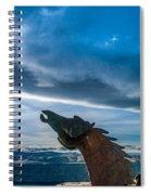 Wild Horse Sculpture Spiral Notebook