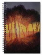 Wild Trees At Sunset Spiral Notebook