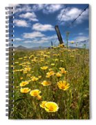 Wildflowers And Barbed Wire Spiral Notebook