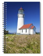 Wildflowers And Cape Blanco Lighthouse Spiral Notebook